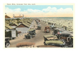 Ocean Boulevard, Tent City, Coronado, San Diego, California Prints
