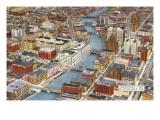 Blick über das Stadtzentrum Milwaukees, Wisconsin Poster