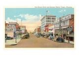 East Second Street, Casper, Wyoming Kunstdrucke