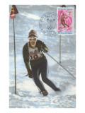 Slalom Ski Racing Poster