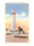 Coit Memorial Tower, San Francisco, California Poster