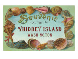 Souvenir from Whidbey Island, Washington Poster