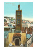 Mosque of Isawia, Tangiers, Morocco Posters