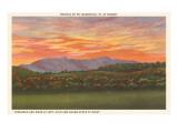 Mount Mansfield, Vermont bei Sonnenuntergang Poster