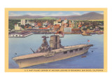 Aircraft Carrier, San Diego Bay Posters