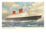 Cunard Ocean Liner RMS Queen Elizabeth Posters