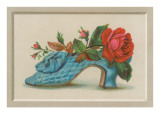 Red Rose in Blue Slipper Posters
