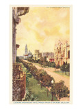 El Prado, Balboa Park, San Diego, California Prints
