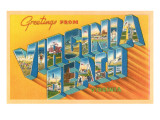 Greetings from Virginia Beach, Virginia Prints