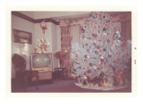 Snapshot of Christmas Tree in Living Room Posters