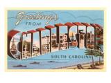 Grüße aus Charleston, South Carolina Kunstdrucke