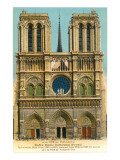 Notre Dame Cathedral, Paris, France Prints