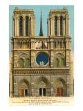 Notre Dame Cathedral, Paris, France Prints