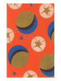 Vintage Paper, Stars and Moon, Abstract Pattern Prints