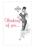 Retroline Ladies' Fashion, 'Thinking of You' Affiches