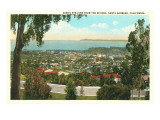 Bird's Eye View of Santa Barbara, California Poster