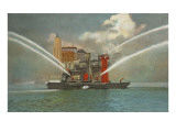 Fire Boat, Seattle, Washington Posters