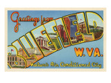 Greetings from Bluefield, West Virginia Prints