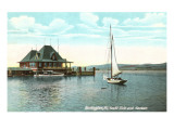 Sailboat, Yacht Club, Burlington, Vermont Prints