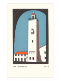 Campanile at SDSU Graphic, San Diego, California Posters