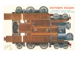 Cut-out Model of Locomotive Posters