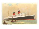 Cunard Mauretania, Ocean Liner Print