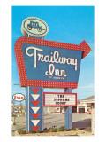 Trailway Inn, Vintage Motel Prints