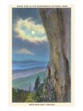 Moon over Shenandoah National Park, Virginia Prints
