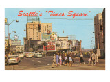 Seattle's Times Square, Washington Print