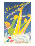 Grindelwald Ski Resort, Graphics Print