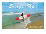 Surfs Up, San Diego, California Prints