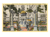 Horton Plaza Fountain, San Diego, California Posters