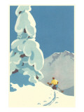 Skier, Graphics Poster