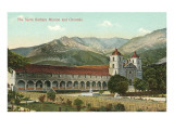 Santa Barbara Mission and Grounds Print