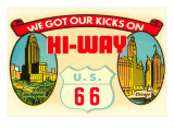 Route 66 Decal Posters