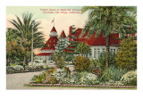 Hotel del Coronado in Winter, San Diego, California Affiches
