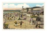 Strand und Uferpromenade, San Diego, Kalifornien Poster