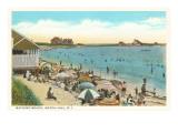 Escena de playa, Watch Hill, Rhode Island Lámina giclée premium