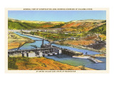Construction of Grand Coulee Dam, Washington Prints