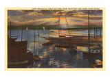 Sunrise, Great Salt Lake, Utah Prints