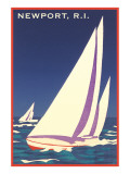 Newport, Rhode Island, Sailboat Graphics Giclée-Premiumdruck
