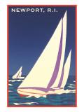 Newport, Rhode Island, Sailboat Graphics - Reprodüksiyon