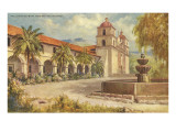 Santa Barbara Mission and Grounds Posters