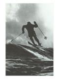 Aggressive Downhill Skier Prints