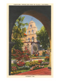 Grounds, Old Mission, San Diego, California Affiches