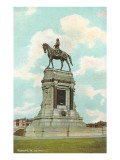 Robert E. Lee Monument, Richmond, Virginia Print