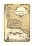 Old Map of Santa Barbara, California Prints