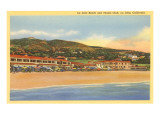 La Jolla Beach and Tennis Club, La Jolla, California Premium Giclee Print
