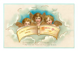 Cherubs Singing Poem Print