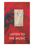 Gloved Hand with Transistor Radio, Listen to the Music Posters